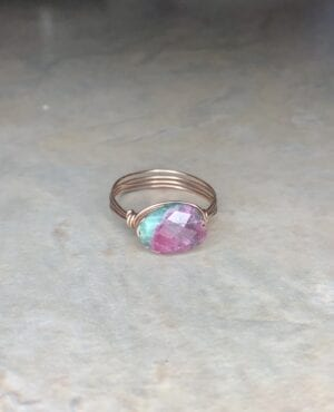 Ruby Zoisite Wire Wrapped Ring
